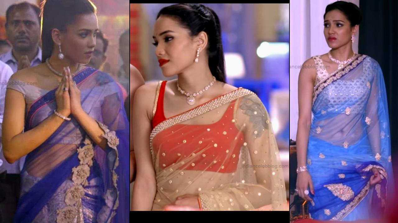 Priyanka Bora sexy low waist transparent saree tv caps