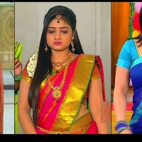 Priyanka Nalkar saree navel show tamil tv hd caps Roja