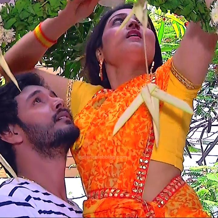 Priyanka nalkar tamil serial actress roja s1 8 saree photo