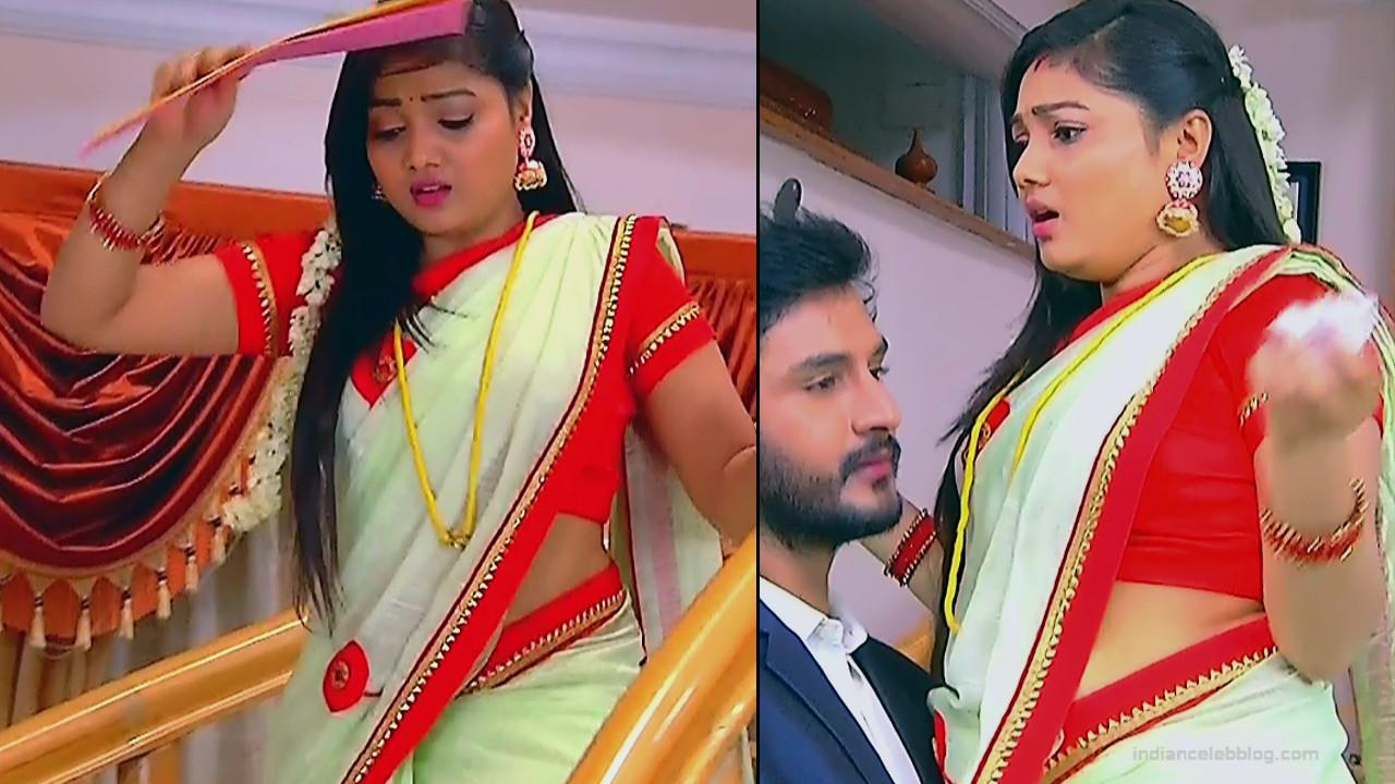Priyanka nalkari tamil serial actress roja s1 4 saree caps