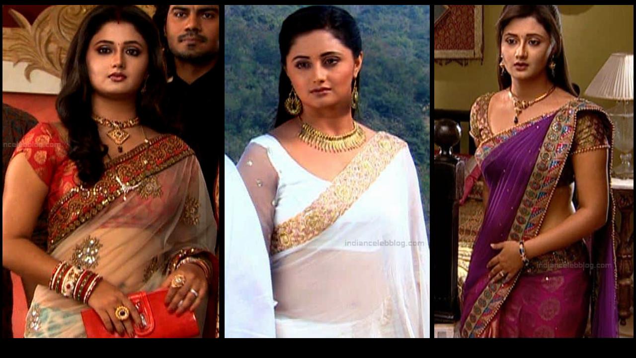 Rashami desai hot transparent saree caps from Uttaran serial