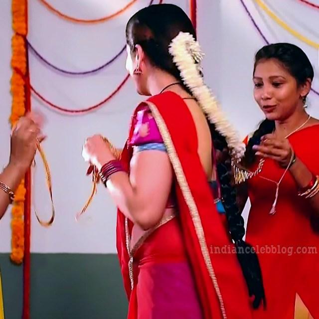 Aishwarya gowda telugu tv actress Akka MS1 2 saree caps