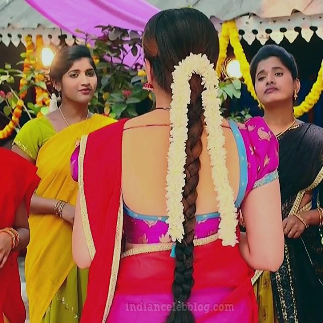 Aishwarya gowda telugu tv actress Akka MS1 5 saree photo