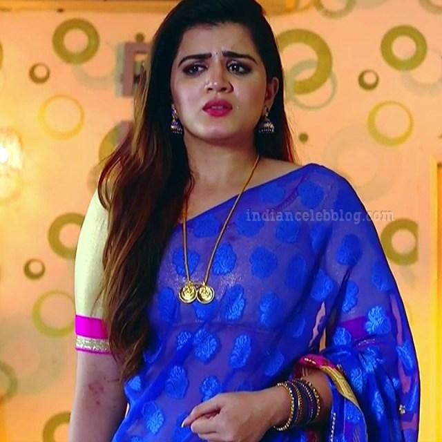 Aishwarya gowda telugu tv actress Akka MS1 8 sari photo