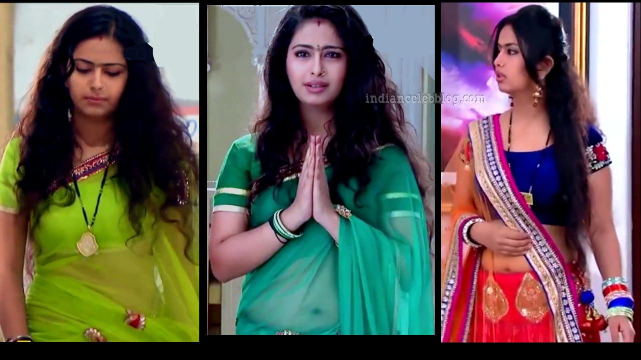 Avika Gor hot sari caps from Sasural simar ka serial