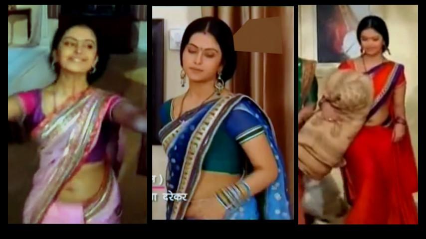 Hindi TV actress Avika gor hot Saree navel show