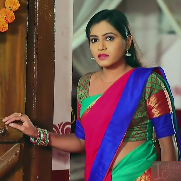 Deepika aradhya kannada TV actress Bili Hendthi S1 5 Saree caps