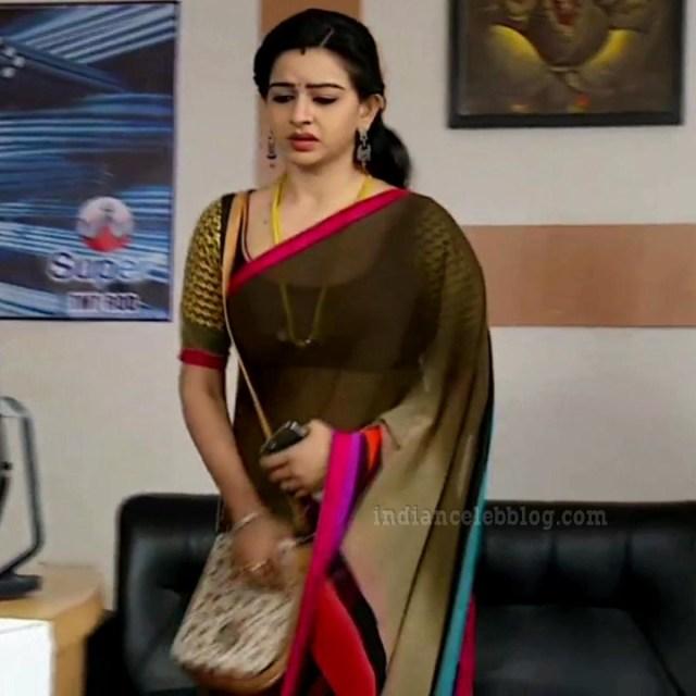 Divya ganesh tamil tv actress sumangali S5 14 saree caps