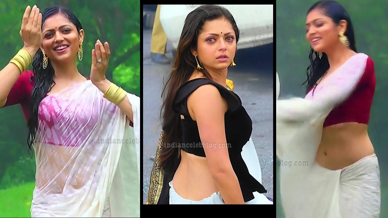 Drashti Dhami hot sleeveless saree TV caps from Silsila