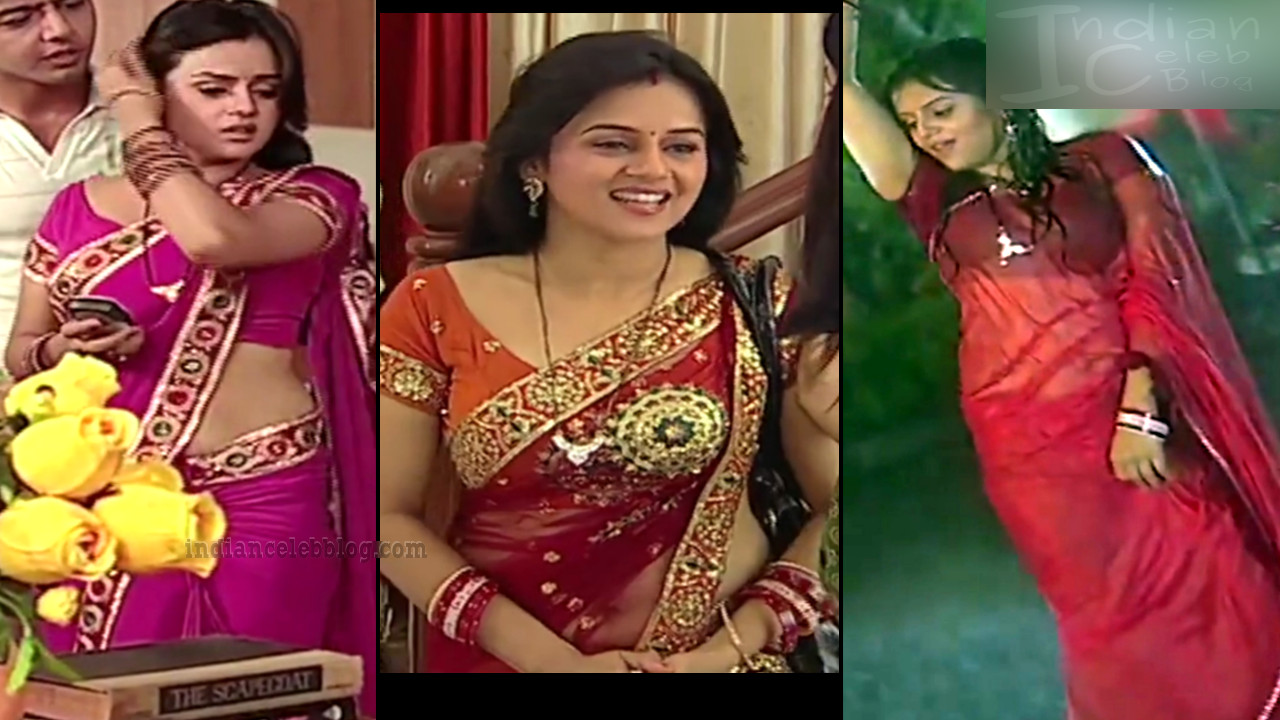 Jayshree Soni Niyati Tv Serial Actress Hot Saree Caps N -1911