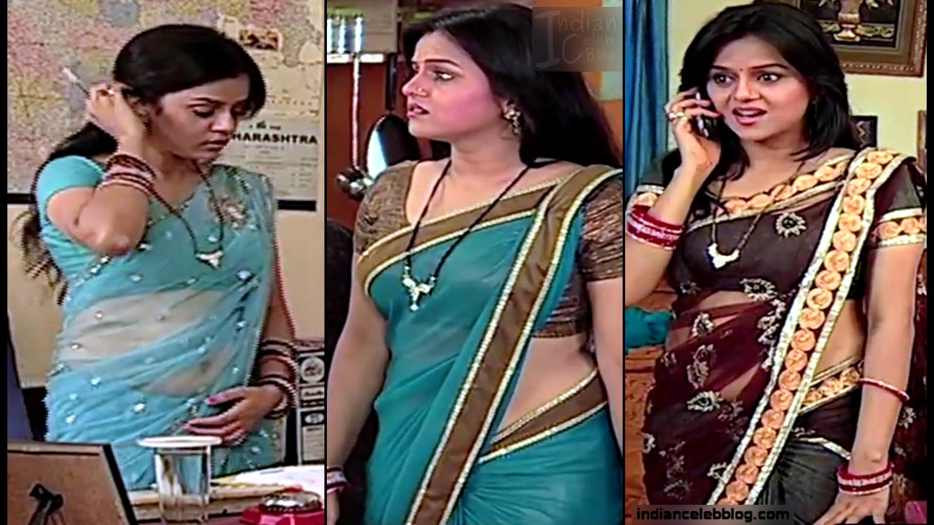 Jayshree Soni hot Saree navel pics caps from Niyati series
