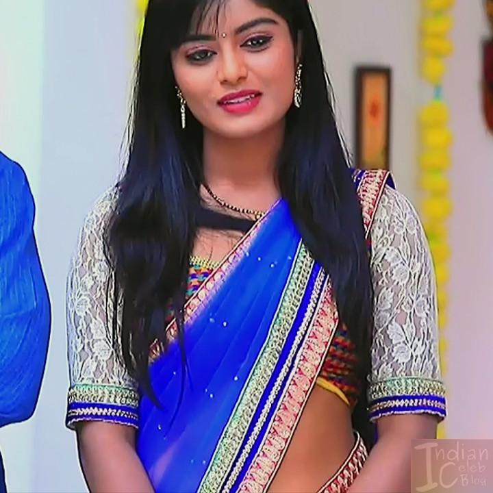 Kannada TV actress Kinnari Aishwarya S1 14 saree photo