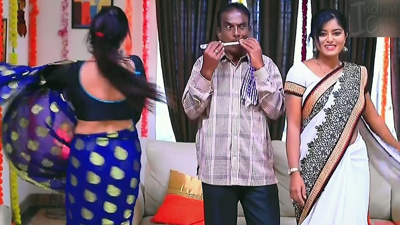 Kannada TV actress Kinnari S1 10 saree pics