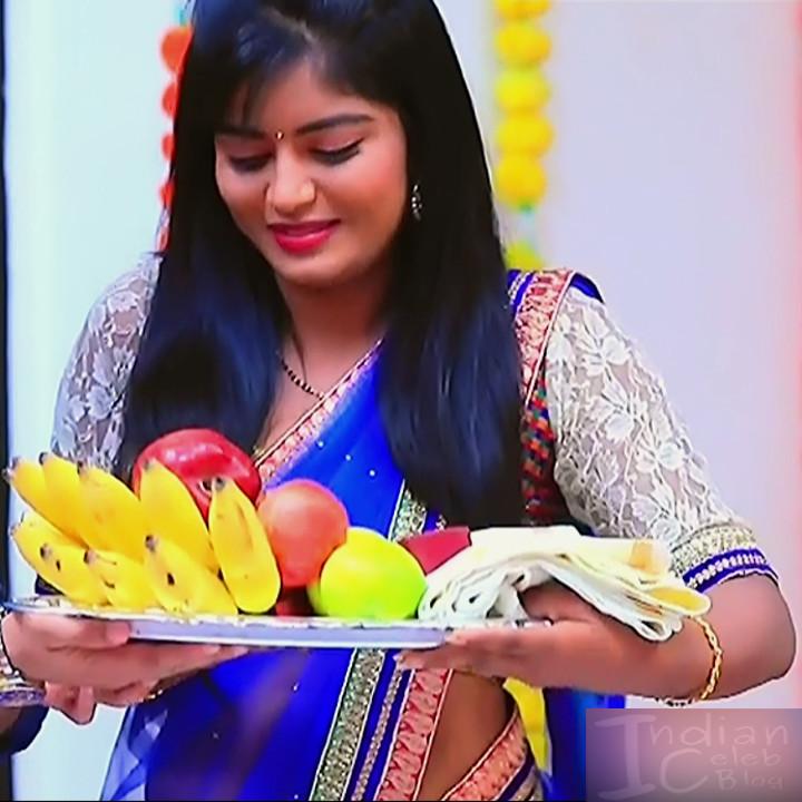 Kannada TV actress Kinnari S1 12 saree photo