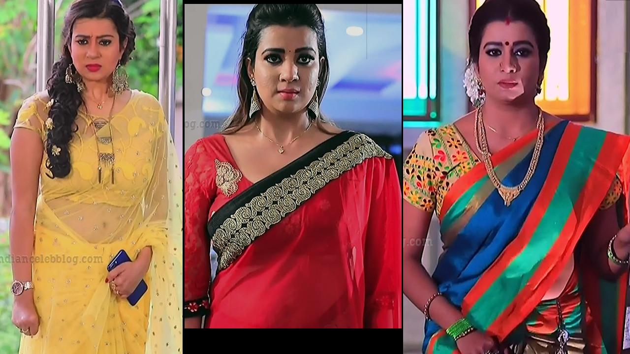 Putta gowri maduve serial actress Saree navel show hd caps