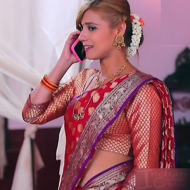 Krystyna devina lason kannada tv actress Bili HS1 10 saree photo