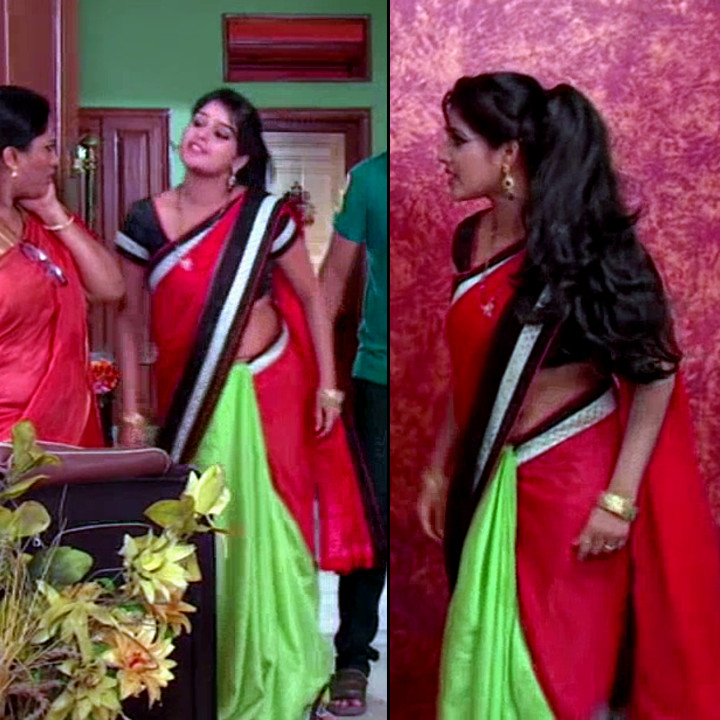 Monisha telugu serial actress nandhini VNS2 13 hot saree pics