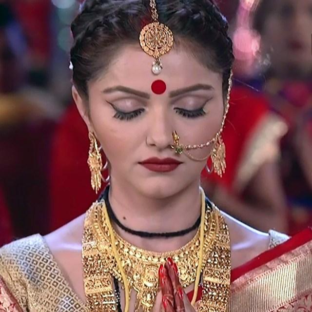 Rubina dilaik Hindi TV actress Shakti AS6 8 hot Sari pic