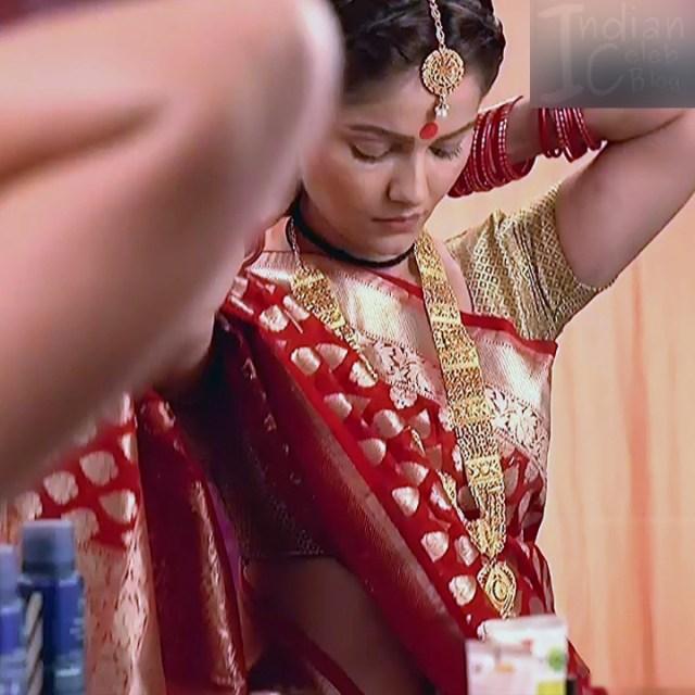Rubina dilaik Hindi TV actress Shakti AS6 9 hot Sari pic