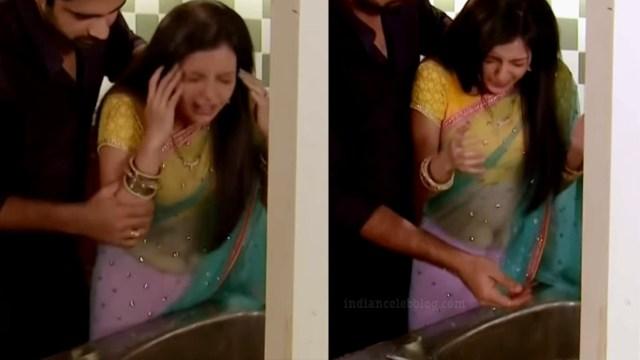 Shrenu parikh hindi tv actress CTS5 3 hot saree caps