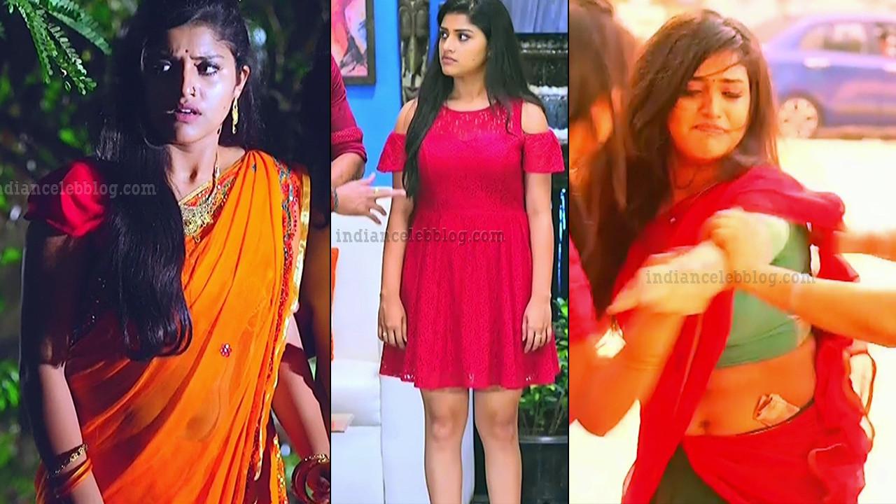 Shreya Anchan hot saree navel show Tamil tv hd caps