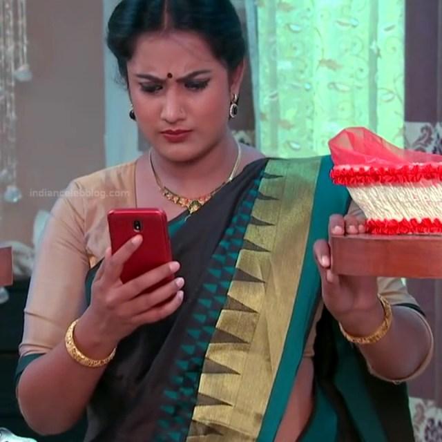 Sravani telugu tv actress Akka MS1 14 hot saree caps