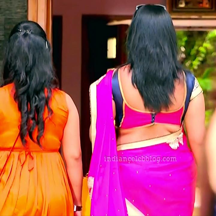 Sravani telugu tv actress Akka MS1 3 hot saree caps