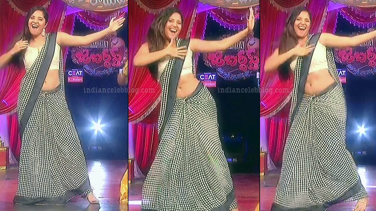 Anasuya teleugu TV anchor Reality show 5 hot saree dance