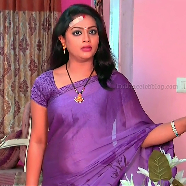 Anusri Telugu TV serial actress MscC5 1 sari pic