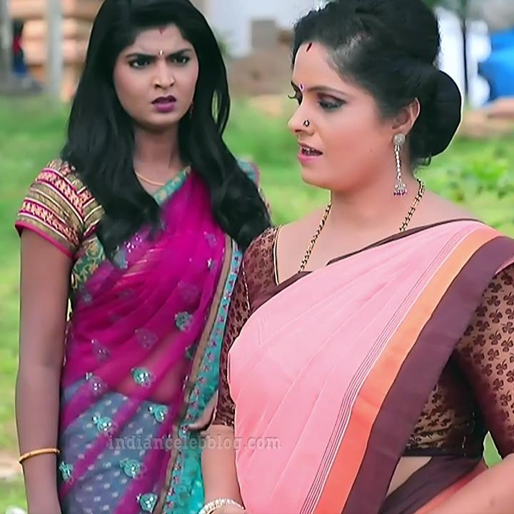Manya anand kannada TV actress BiliHS2 12 sari caps