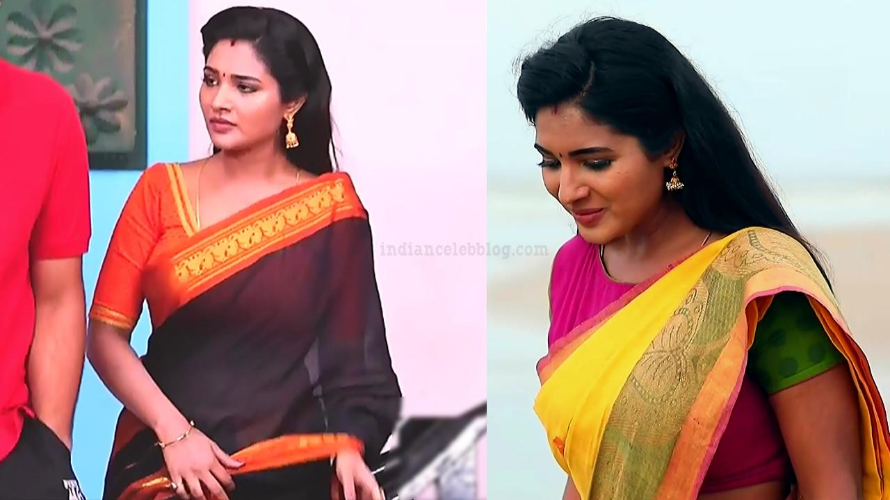Sharanya turadi nenjam marppathillai actress S1 3 saree pics