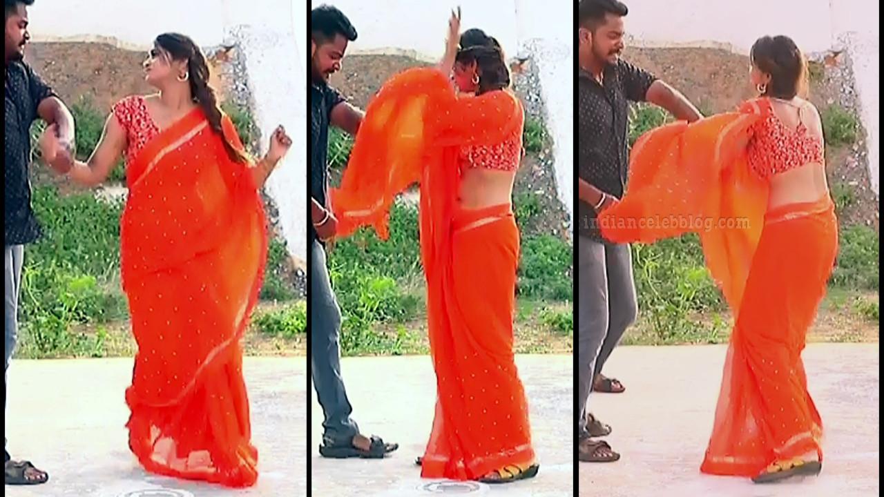 Shivani pagal nilavu S1 12 tamil tv serial actress saree pics