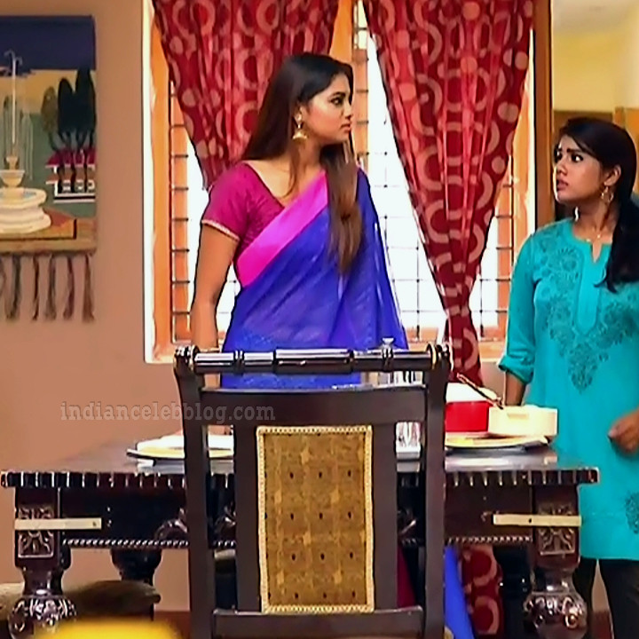 Shivani pagal nilavu S1 2 tamil tv serial actress saree photo