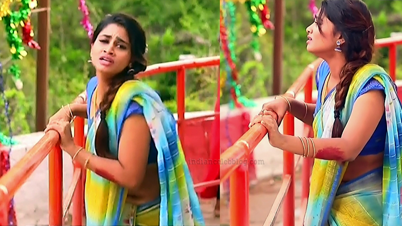 Shivani pagal nilavu S1 7 tamil tv serial actress saree pics