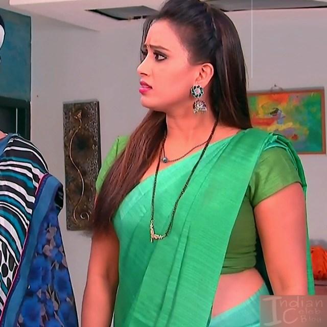 Telugu TV serial actress MscC5 13 saree pic