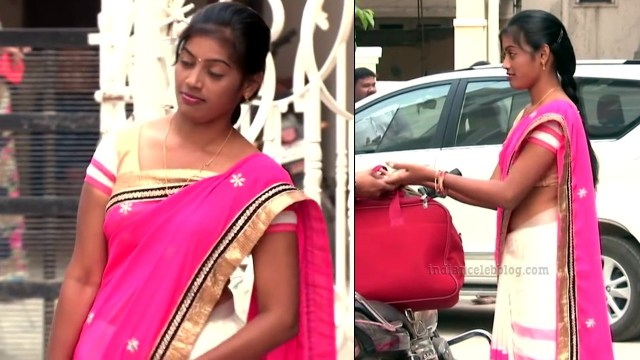 Telugu TV serial actress MscC5 14 saree pic
