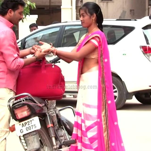 Telugu TV serial actress MscC5 15 saree pic