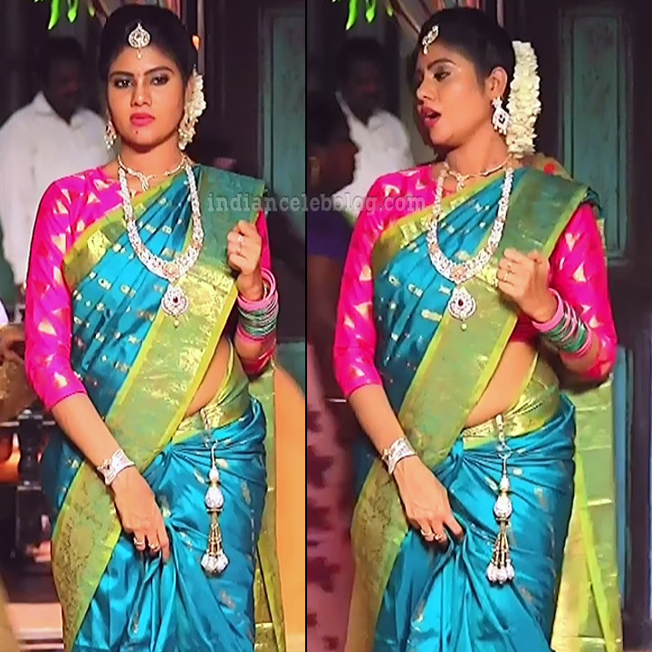 Nivisha tamil tv actress eeramana rojave s1 1 saree pics