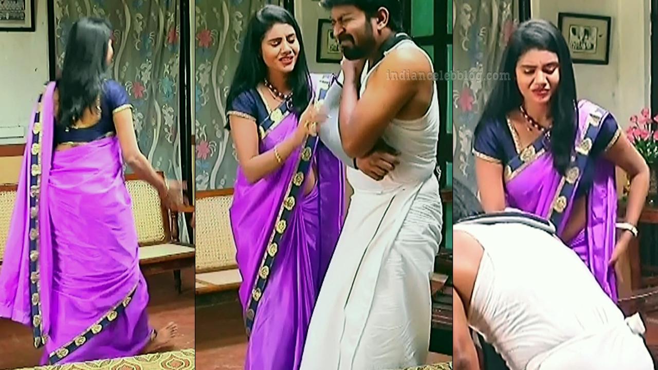 Nivisha tamil tv actress eeramana rojave s1 10 sari pics