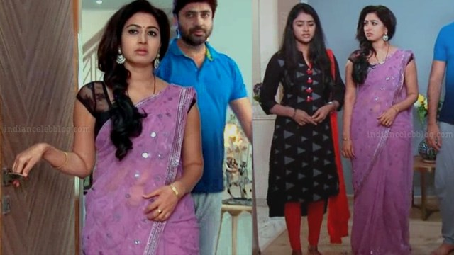 Revathi telugu tv serial actress S1 7 sari photo