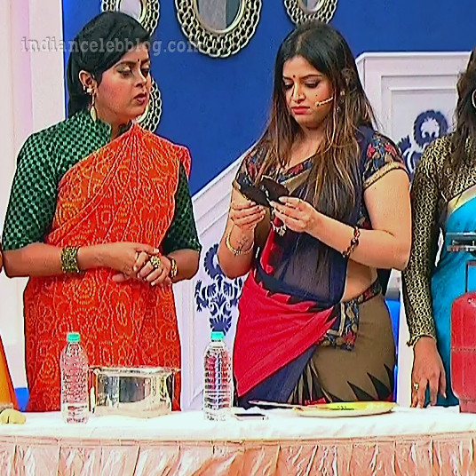 Shwetha chengappa Majaa talkies s2 5 hot saree pics