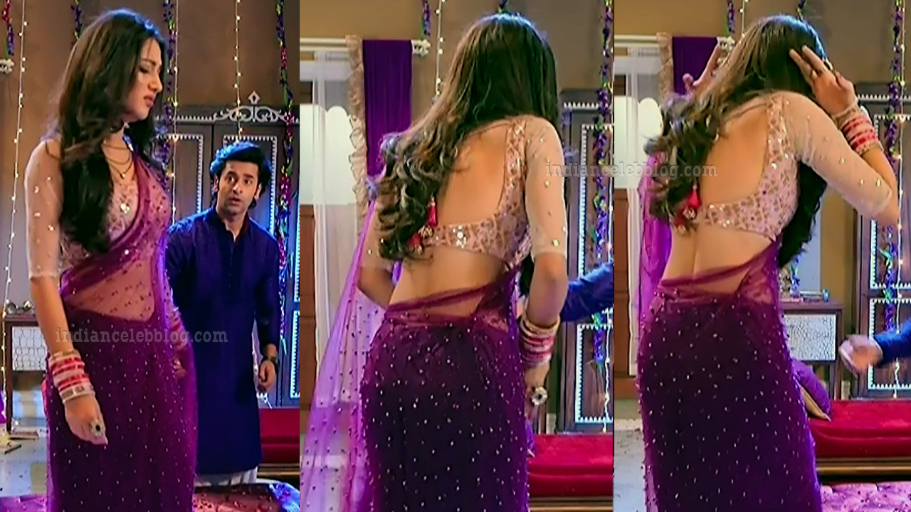 Donal bisht roop mard serial actress S2 4 sari pics