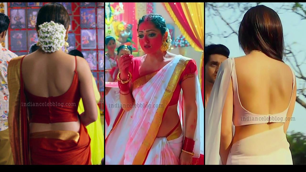 Drashti Dhami hot backless blouse saree HD caps