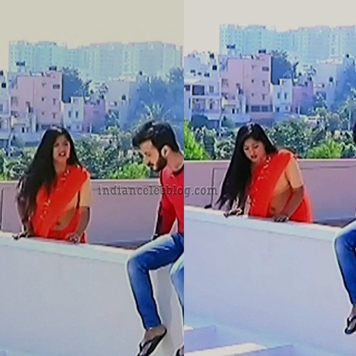 Meghana shankarappa kannada serial KinNS4 6 saree navel pics