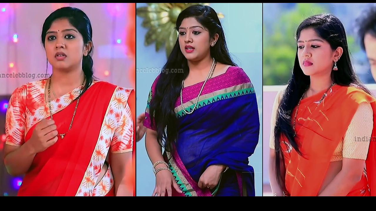 Meghana Shankarappa Saree navel show HD caps kinnari serial