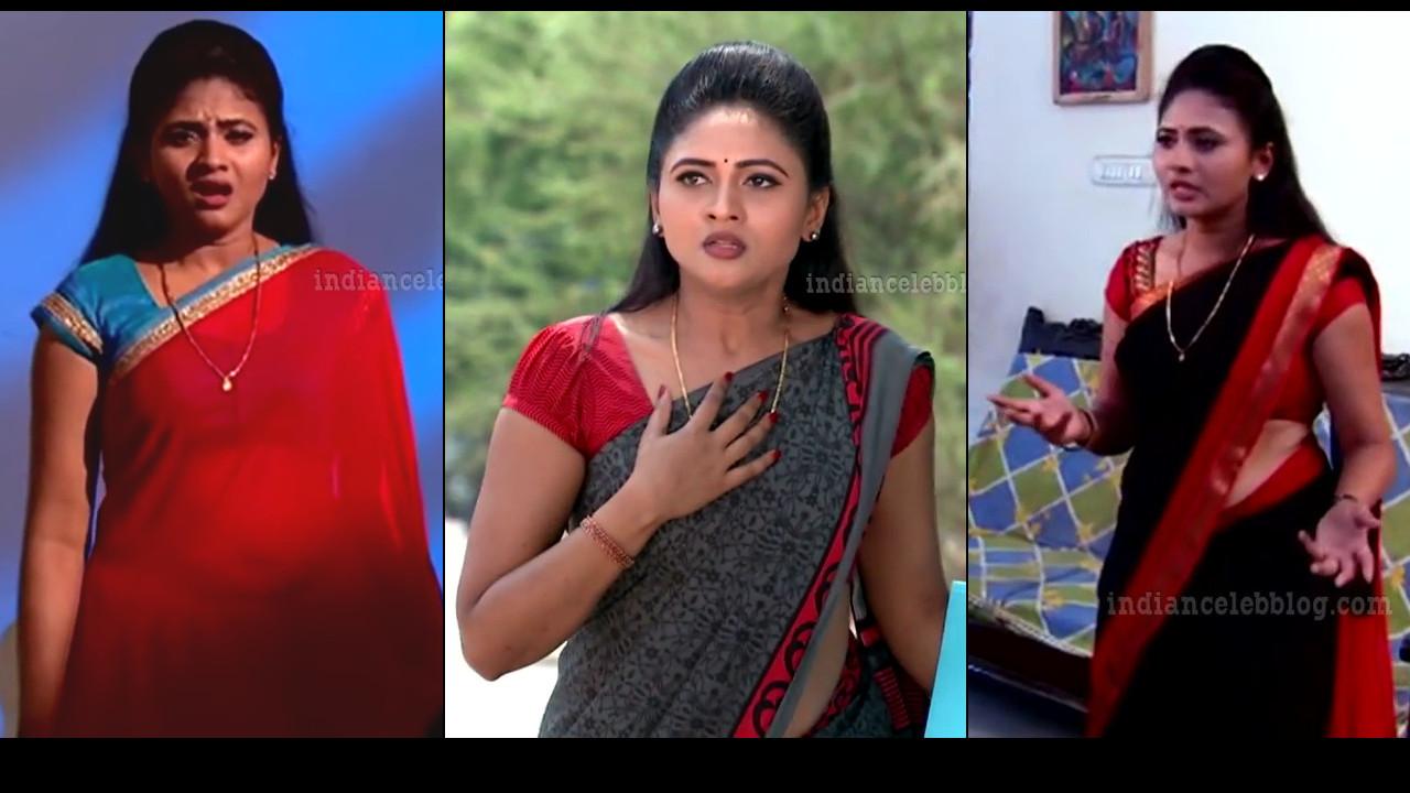 Telugu TV unknown actress caps in saree