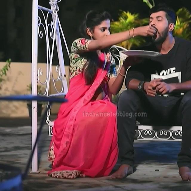 Raksha gowda Putmalli serial actress S2 9 saree pic