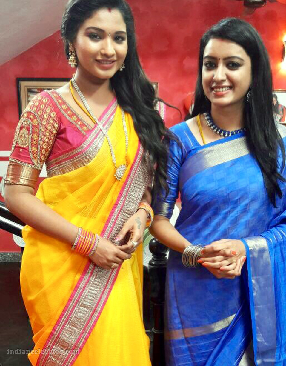 Sharanya turadi nenjam marappathillai actress CTS1 15 saree photo