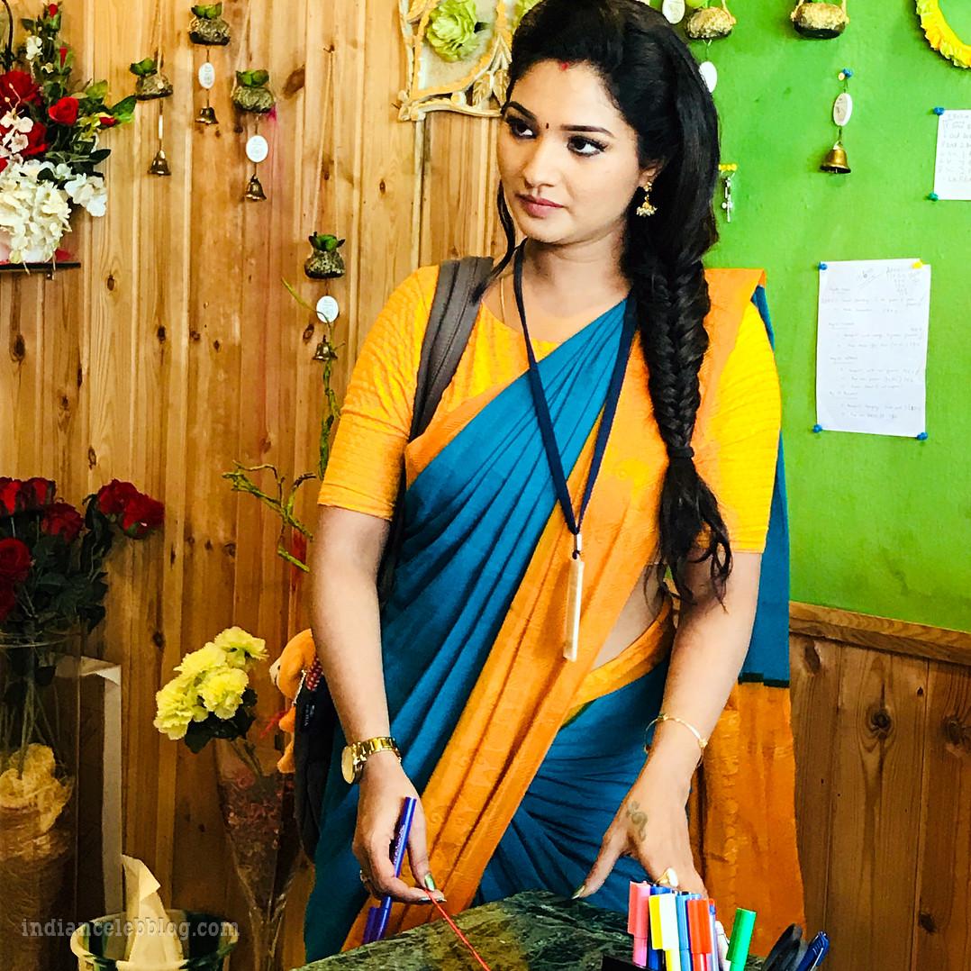 Sharanya turadi nenjam marappathillai actress CTS1 5 saree photo