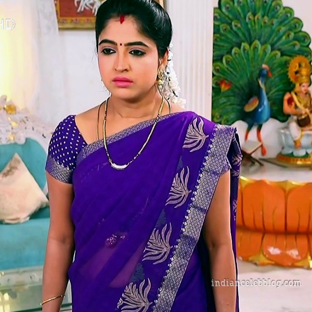 Shyamili Nayar Devathaiyai kanden actress S1 19 saree photo